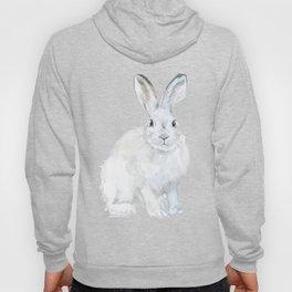 Arctic Rabbit Watercolor Hoody