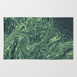 Abstract green texture Rug