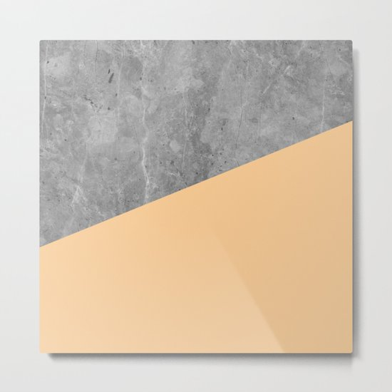Geometry 101 Orange Sherbet Metal Print