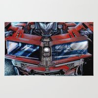 transformers Area & Throw Rugs featuring Custom Transformers 4 design by ira gora