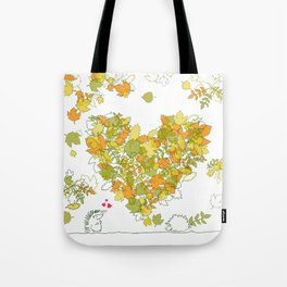 Heart of leaves 4U Tote Bag