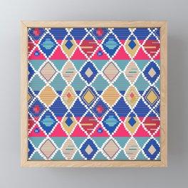 colorful carpet pattern Framed Mini Art Print