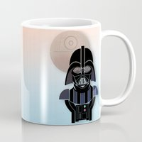 starwars Mugs featuring StarWars Darth Vader by Joshua A. Biron