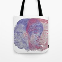 tupac Tote Bags featuring You Got the Juice Now, Kid by Dazed N Amused