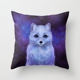 Arctic Fox (color version II.) Throw Pillow