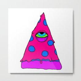 Illuminati Pizza - Swag Pepperoni Confirmed PINK Metal Print