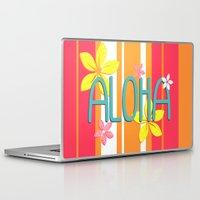 aloha Laptop & iPad Skins featuring Aloha by Claire Lordon