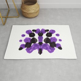 Purple And Black Inkblot Diagram Rug