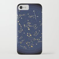 constellations iPhone & iPod Cases featuring Constellations by Cina Catteau