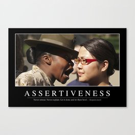 Assertiveness: Inspirational Quote and Motivational Poster Canvas Print