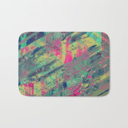 Colour Relaxation - Abstract, textured oil painting Bath Mat