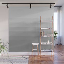 Clean Grey Lines - Gradient Grayscale Stripes Abstract Wall Mural