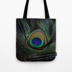 peacock eye Tote Bag