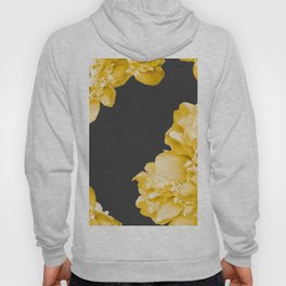 Yellow Flowers On A Dark Background #decor #society #homedecor Hoody