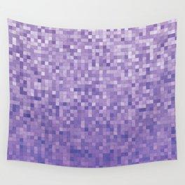 Pixels Gradient Pattern in Purple Wall Tapestry