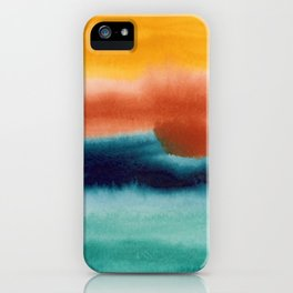 Rainbow Abstract #! iPhone Case
