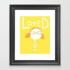 LOVED Framed Art Print