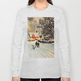 Village in Winter Long Sleeve T-shirt