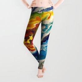 Deep Sea Rainbow Leggings