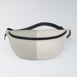 Half-and-Half in Khaki and Cream Fanny Pack