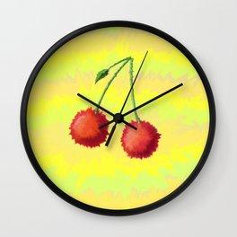 Fine Line Cherry Wall Clock