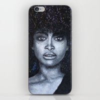 erykah badu iPhone & iPod Skins featuring Erykah Badu by Art Physic