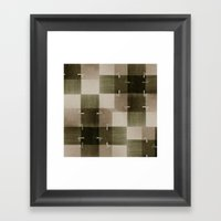 random pattern Framed Art Print