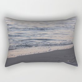 Line of water and sand / 51 Rectangular Pillow