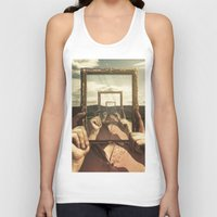 frame Tank Tops featuring Empty Frame by Seamless