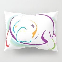 Rainbow Manatee Pillow Sham