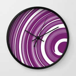 lollipop in white and purple Wall Clock