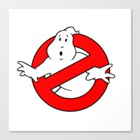 ghostbusters Canvas Prints featuring ghostbusters by tshirtsz