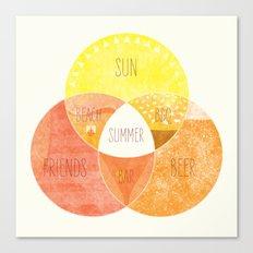 Venn it's Summer! Canvas Print