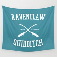 ravenclaw Wall Tapestries featuring Hogwarts Quidditch Team: Ravenclaw by IA Apparel