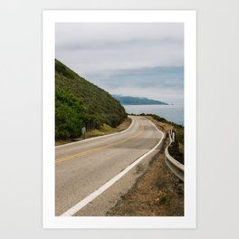 Big Sur Highway 1 Wall Art | California Nature Mountains Ocean Beach Coastal Travel Photography Print Art Print