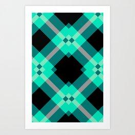 Xadrez Verde Agua Art Print
