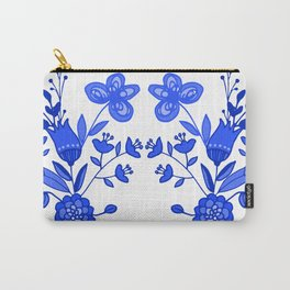 Blue &White Floral Carry-All Pouch