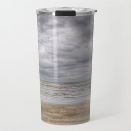 Sand Waves Clouds Travel Mug