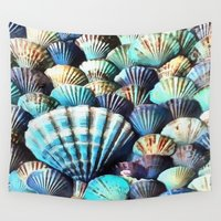 shells Wall Tapestries featuring Sea Shells by A.Aenska-Cholpanova