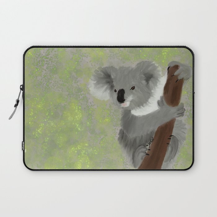 Koala Bear Hanging In There Laptop Sleeve