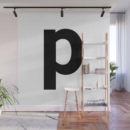 letter P (Black & White) Wall Mural