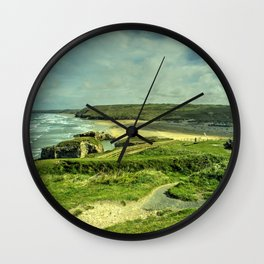 Perranporth Headland Wall Clock