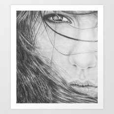 Windswept Beauty Art Print