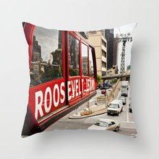 Roosevelt Island Sky Lift. New York City. Throw Pillow