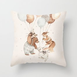 Friends of the Sky Throw Pillow