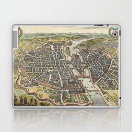 Vintage Map of Paris France (1655) Laptop & iPad Skin