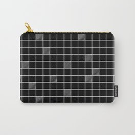 Just checkered pattern black and white 3 Carry-All Pouch