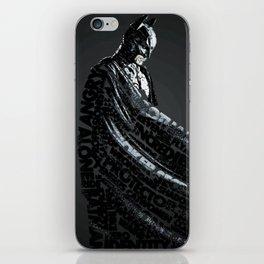 Bat Man Typography iPhone Skin
