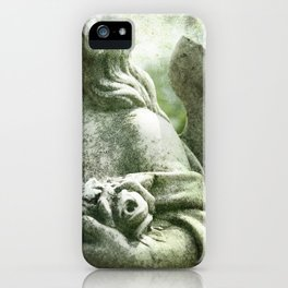 Angelic Cherub Looks Over The Headstones iPhone Case