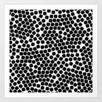 dots Art Prints featuring Dots by Patterns and Textures